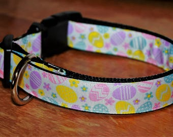 EASTER EGGS - Plastic Buckle Collars - in many different widths