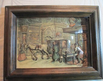 Vintage Anton Pieck 3-D Picture and Frame
