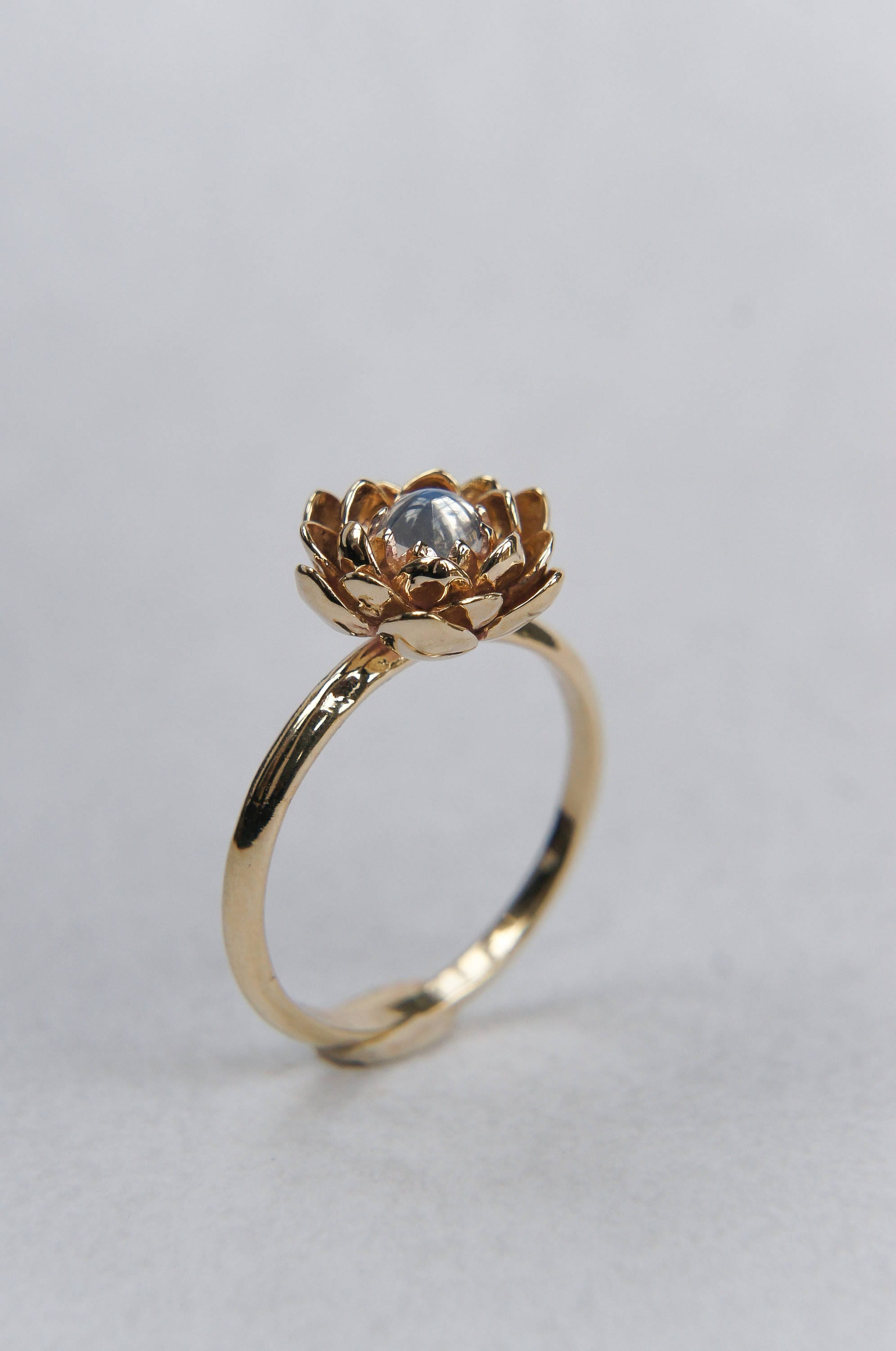 moonstone engagement ring flower engagement ring yellow gold