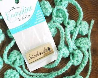 Handmade Bag Label with Bird - Nickel - Emmaline Zipper Pull