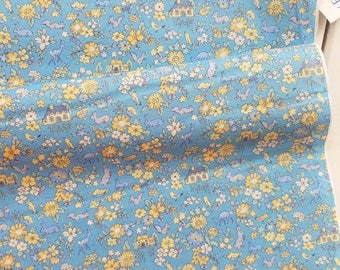 Memoire a Paris Cotton Lawn 2017 - Cottage(Blue) - Lecien - Japan, Inc