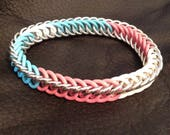 Trans Pride Bracelet - Transgender Flag Colours Stretchy Bracelet