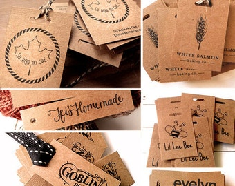 100  KRAFT PAPER TAGS Custom Hang Tag Wedding Favors Tags Custom Tags Favor Tag Wedding Gift Tags Custom Favor Bridal Shower