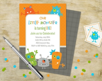 Monster Kids Birthday Invitation | Monster Kids Printable Invitation | Digital Invitation | Printable .PDF