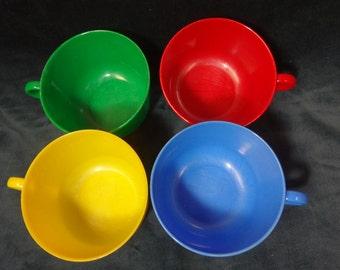 FOUR (4) Plastex Cups