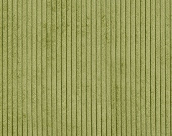 Green Corduroy Striped Soft Velvet Upholstery Fabric By The Yard | Pattern # B0700A
