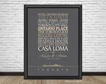 Toronto, Travel Print, Toronto Sightseeing, Famous Places, Travel Destinations, Vacation, Honeymoon, City Prints, Gift for Couple, Art Print