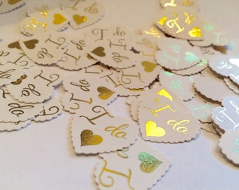 Wedding Confetti Hearts I do pack of 100