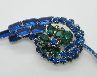 """Vintage Rhinestone Jewelry -  """"Juliana"""" Brooch Pin - Verified - Delizza & Elster"""