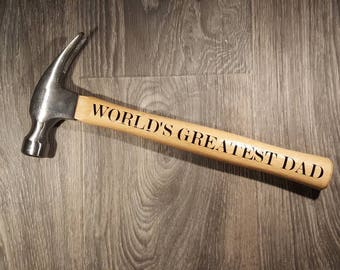 Personalized Hammer - Gifts for Guys - Father's Day Gifts - Garage Decor - Manly Gifts - Barn Decor - Office Decor - Hammer - Gifts