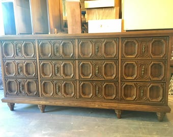 Basset Carved Front Dresser - Available for Custom Lacquer - For Samantha
