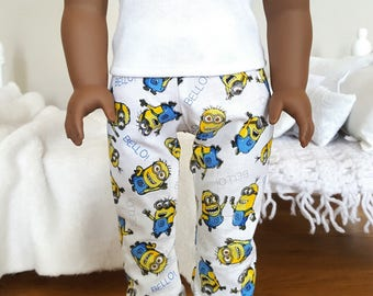 18 inch doll pajama pants | minion pants