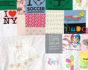 Memory Blanket, Memory Quilt, Custom Blanket made with clothes