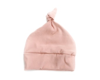baby beanie hat, rose knotted hat, baby knotted hat, kids hat, baby girl knotted hat, baby shower gift