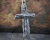Handcrafted Cross Pendant. Handmade Artisan Jewelry No. 264PD