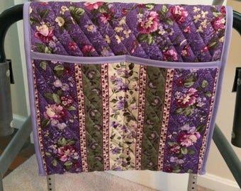 Walker Caddy Bag (purple flowers)