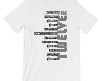 Christian T Shirts Twelve Apostles '16 - Christian Clothing - Jesus Shirt - Christian Apparel - Christian Gifts - Gift for Men