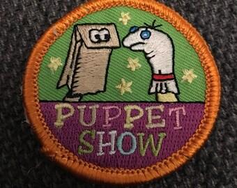 Puppet Show Patch (1) - sock puppet puppets fun scout kids