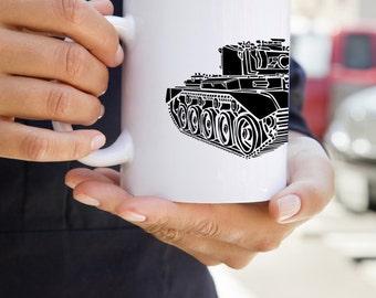 KillerBeeMoto: U.S. Made Coffee Mug  British Comet 1 (A34) Cruiser Tank Coffee Mug