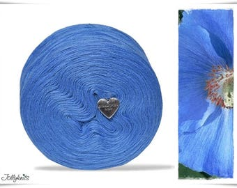 Solid Yarn Merino Light Cobalt Blue 750m