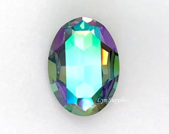 4127 PARADISE SHINE 30x22mm Swarovski Crystal Oval Faceted Fancy Stone No Hole