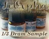 Natural Perfume Sample - LeOrpha Vanilla Perfume - Artisan Perfume Sample - Vanilla Perfume Tester - Cologne Sample - Victorian Inspired
