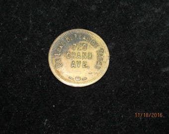 Vintage De Luxe Deluxe Bureau De Tabac Trade Token Coin 5 Cent Trade #2589