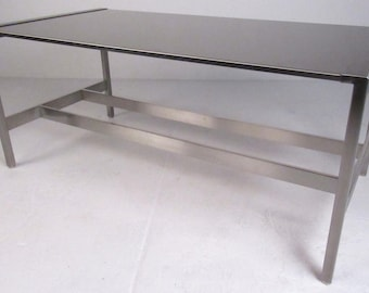 Unique Contemporary Modern Stainless Coffee Table (7864)NJ