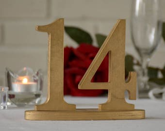 Wedding Table Numbers Gold, Gold Table Number, Wedding Reception Table, 10 table numbers