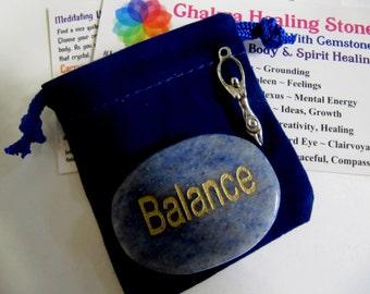 Chakra Balance Kit, Balance Gemstone, Chakra Wallet Cards, Velour Pouch, Tree of Life & Goddess Charms