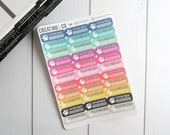 Vet Appointment Label Sticker Set for a Variety of Planners - LS19