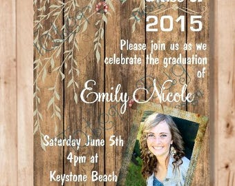 Rustic Graduation Invitation (Digital File Only)