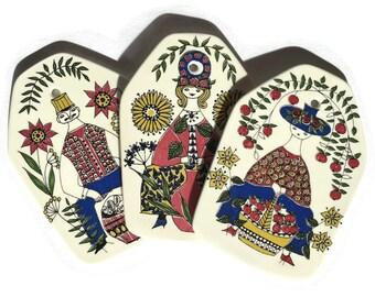 Figgjo Flint Mons Og Mille Wall Plaque, Cheese Board, Mid Century Scandinavian, Norway, Turi Design