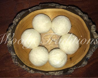 6 Wool Dryer Balls - Made to order