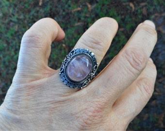 Rose quartz ring, rose quartz rings, rose quartz jewelry, size 7 3/4 ring, quartz ring, quartz rings, pink quartz ring, pink quartz rings,