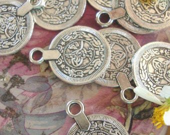 Belly Dancer Con Charms,Gypsy Coin Charms,10pcs