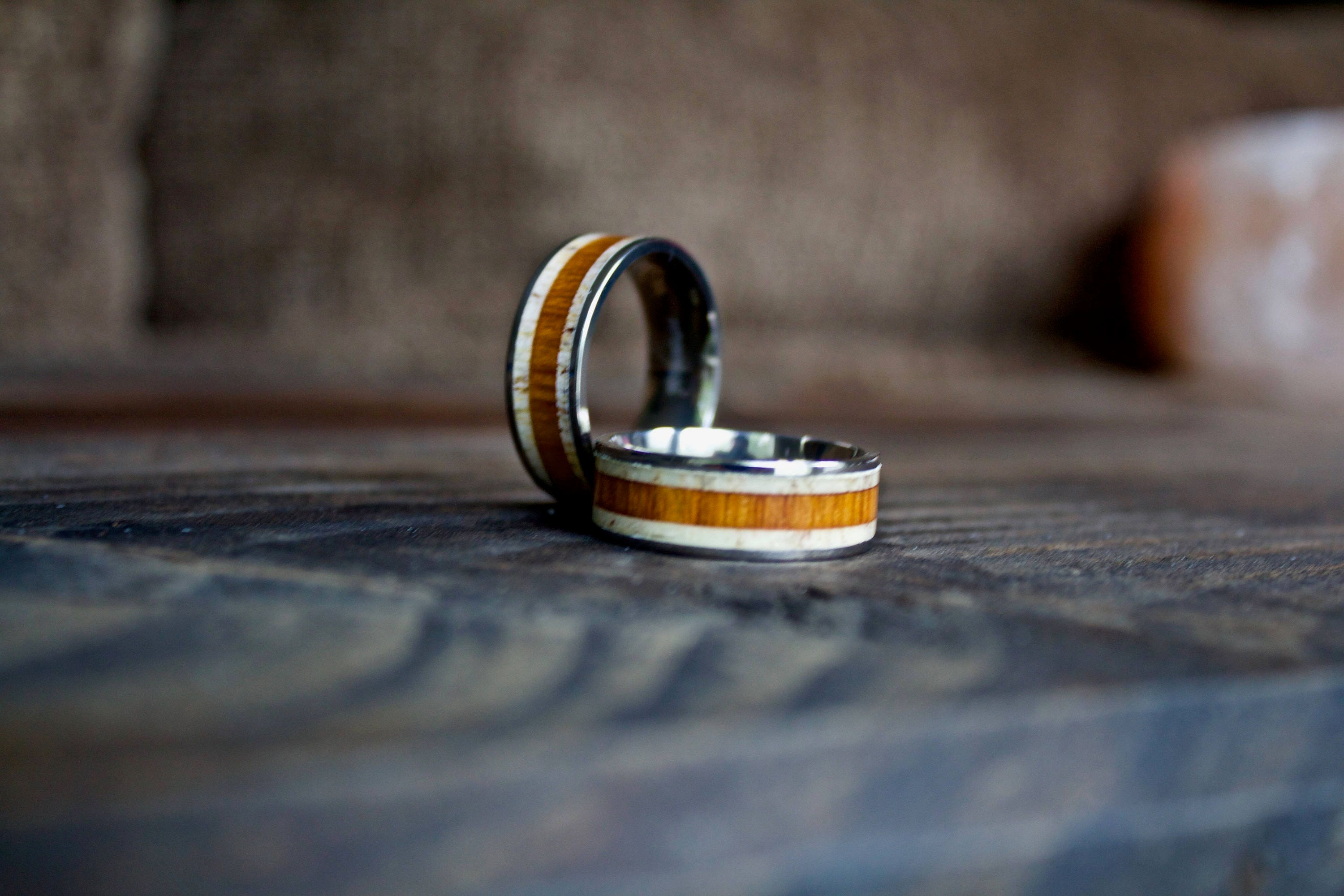 Unique Wooden Rings Wedding Band