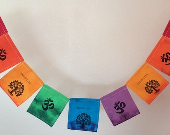 Tree of Life, OM, Namaste prayer flags. All proceeds to families in Mexico. (3+ items 10% off.))  We can enclose a gift note.
