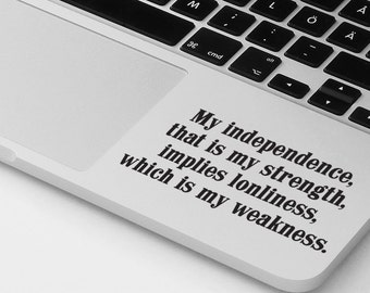 Laptop Decal, Macbook Pro Air Decal, Palm Rest Decal Sticker, Motivational Inspirational Funny Quote Laptop Decal, Cover Skin Case  Sticker