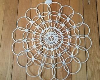 Vintage 1950s Tupperware White Plastic Circle Doilie!