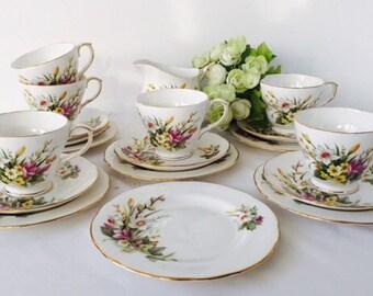 Reserved TT Duchess China 'Spring' Tea Set, Staffordshire, 1960s.