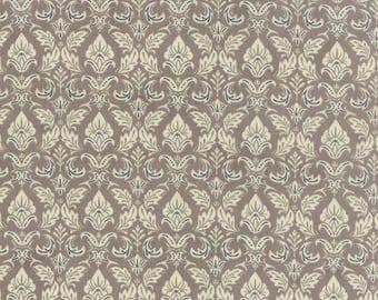 Black Tie Affair by BasicGrey from Moda,  Item Number/Color 30421-14, Color Grey, Fleur de Lis pattern, Yardage, Retired Line