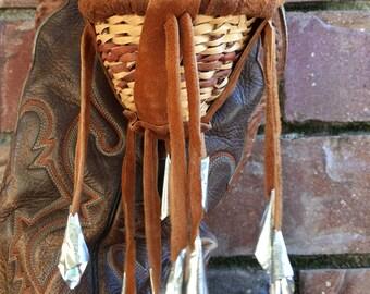 1970's Navajo Woven Burden Basket