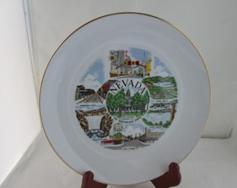 Nevada State Souvenir Plate Nevada souvenir Nevada state plate ceramic souvenir Nevada state plate NV souvenir NV state souvenir plate