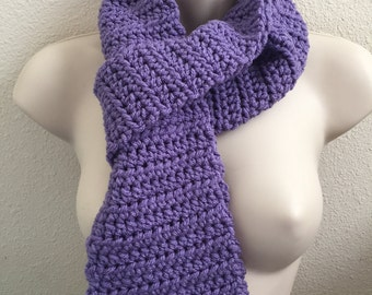 Lavender Crocheted Scarf