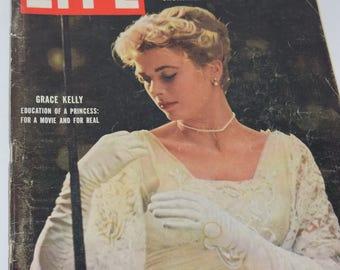 "Vintage April 9, 1956 ""Life"" Magazine - Grace Kelly Cover"