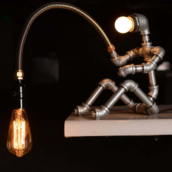Ebe designer industrial lighting steampunk lamp table lamp for How to make an industrial lamp