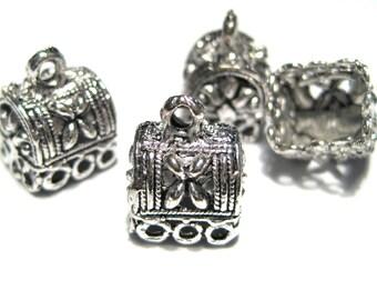 Antique Silver Filigree Tassel Caps Cone Bead Caps 11mm