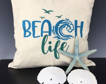 Beach & Ocean Phrase Graphics on Pillow Covers - Perfect for any Beach/Sea/Water/Ocean Home Decor
