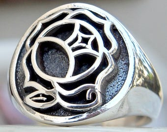 Utena 3D Ring Solid Sterling Silver 925